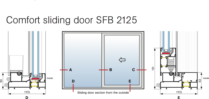 ... wall structure. The choice of fixing method depends on the wall type. The number and location of fixing points depends on the size of the sliding door.  sc 1 st  Alvindus.com & Sapa Sliding Door 2125 | Alvindus.com