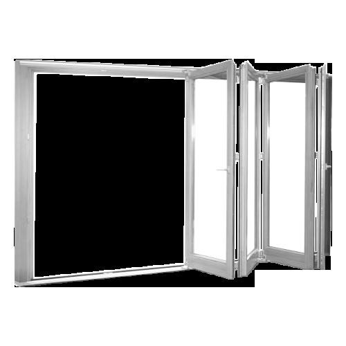 REHAU PVC folding doors