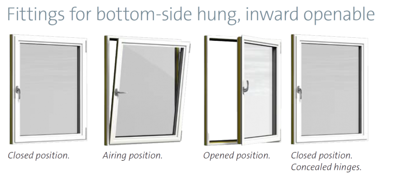 Sapa Window 1086 Inward Opening High Insulated