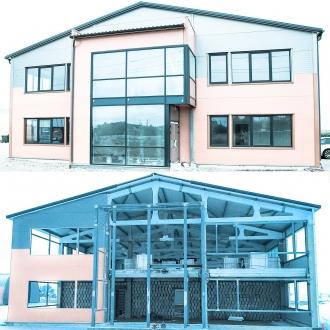 Aluminium Sapa facade 4150, Sapa 2074,2050 doors LT